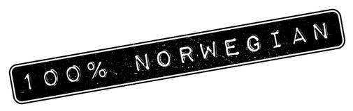 100 percent norwegian rubber stamp Stock Photography
