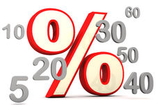 Percent With Numbers Royalty Free Stock Photography