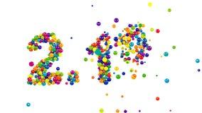2.1 percent numeric icon in colorful balls stock video