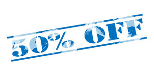 50 percent off blue stamp Royalty Free Stock Photo