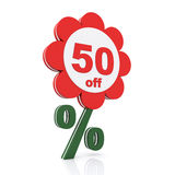 50 percent off. Buy now Royalty Free Stock Photography