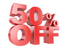 50 percent off 3d icon. Royalty Free Stock Photos