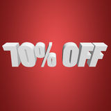 70 percent off 3d letters on red background Stock Photo