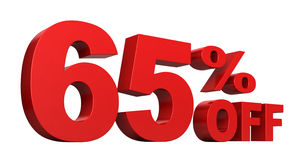 65 Percent Off Stock Image