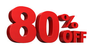 80 Percent Off Stock Photo