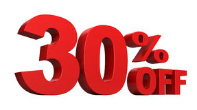 30 Percent Off Stock Images