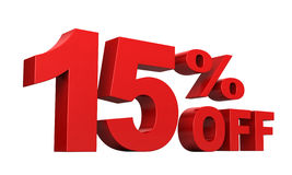 15 Percent Off Royalty Free Stock Images