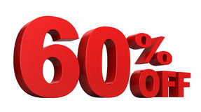 60 Percent Off Stock Image