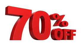 70 Percent Off Stock Photo