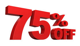 75 Percent Off Royalty Free Stock Photo