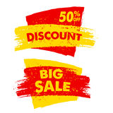 50 percent off discount and big sale banners Royalty Free Stock Image