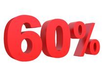 Percent off Discount %. 3d red text isolated on a white background 3d rendering. Percent off. Discount %. 3d red text on a white background 3d rendering vector illustration