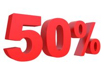 Percent off Discount %. 3d red text isolated on a white background 3d rendering. Percent off. Discount %. 3d red text on a white background 3d rendering stock illustration