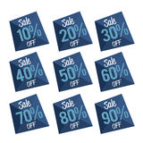 Percent OFF Discount Label Tag low poly Stock Photos