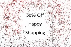 50 percent off discount. 50 percent off discount with glitter Stock Image