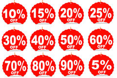 Percent off discount price tag Stock Images