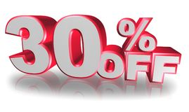 30 percent off. An illustration of the text 30 percent off Stock Image