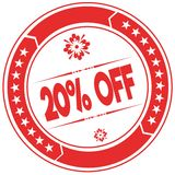 20 PERCENT OFF orange stamp. Stock Photos