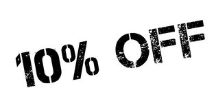 10 percent off rubber stamp Stock Image