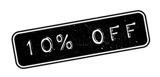 10 percent off rubber stamp. On white. Print, impress, overprint Royalty Free Stock Image