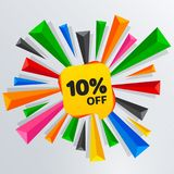 10 Percent Off Sale Discount Banner. Price tag. Stock Photography