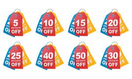 Percent off shopping tag. Stock Photo