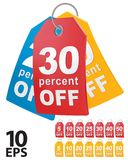 Percent off shopping tag. Royalty Free Stock Photos