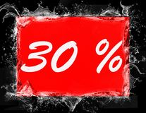 30 percent off shopping tag icon. In red Stock Photos