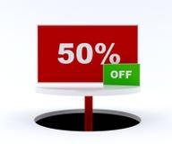 50 percent off Stock Image