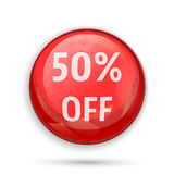 50 percent off sign or symbol Royalty Free Stock Photos