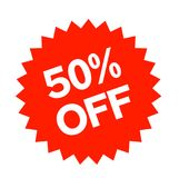 50 percent off sticker. Authentic design graphic stamp Royalty Free Stock Photos