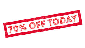 70 percent off today rubber stamp Stock Photos