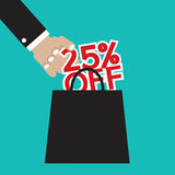 25 Percent. Off Vector Illustration Royalty Free Stock Photography