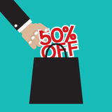 50 Percent Off. Vector Illustration Royalty Free Stock Photo