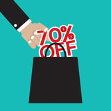 70 Percent Off. Vector Illustration Stock Images