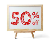 50 percent off royalty free stock photography