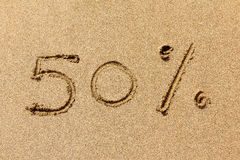 50 percent off Royalty Free Stock Image