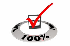 100 Percent One Hundred Full Total Score Number. 3d Illustration stock illustration
