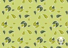 100 percent organic coffee pattern Stock Photos