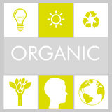 100 percent organic. Design, vector illustration eps10 graphic Royalty Free Stock Photo