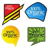 100 percent organic product banner. designs for posters, backgrounds, cards, banners, stickers, etc. EPS file available. see more images related royalty free illustration