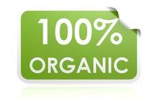 100 percent organic sticker. Hi-res original 3d-rendered computer generated artwork vector illustration