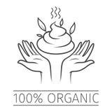 100 Percent Organic. Sticker, Icon, Tag or Label royalty free illustration