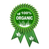 100 percent organic - vector. 100 percent organic – stock vector Royalty Free Stock Photography