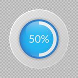 50 percent pie chart on transparent background. Percentage infographic vector. Circle diagram. 50 percent pie chart on transparent background. Percentage vector Royalty Free Stock Photography