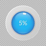 5 percent pie chart on transparent background. Percentage vector infographic icon for business, finance. 5 percent pie chart on transparent background Stock Photography