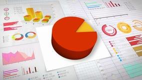 90 percent Pie chart with various economic finances graph.(no text). Percent Pie chart with various economic finances graph royalty free illustration