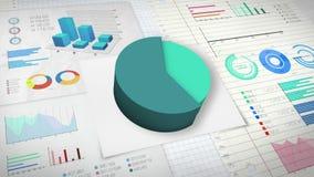 60 percent Pie chart with various economic finances graph version 2.(no text). Pie chart with various economic finances graph version 2.(no text&# stock illustration