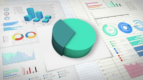 30 percent Pie chart with various economic finances graph version 2.(no text). Pie chart with various economic finances graph version 2.(no text&# stock illustration