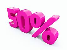 50 Percent Pink Sign. 3d Illustration Pink 50 Percent Discount Sign, Sale Up to 50, 50 Sale, Pink Percentages Special Offer, Save On 50 Icon, 50 Off Tag, Pink 50 Royalty Free Stock Image